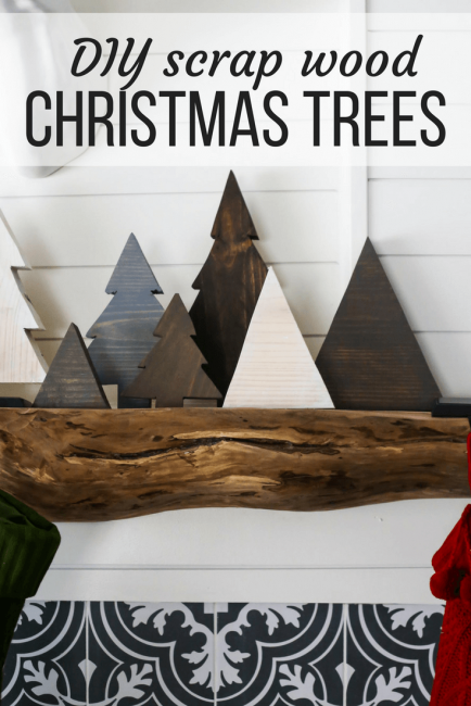 DIY Scrap Wood Christmas Trees | 26 Inspiring and Easy Christmas DIYs | This Crazy Adventure Called Life