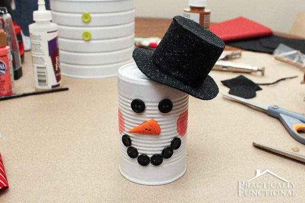 Tin Can Snowman | 26 Inspiring and Easy Christmas DIYs | This Crazy Adventure Called Life