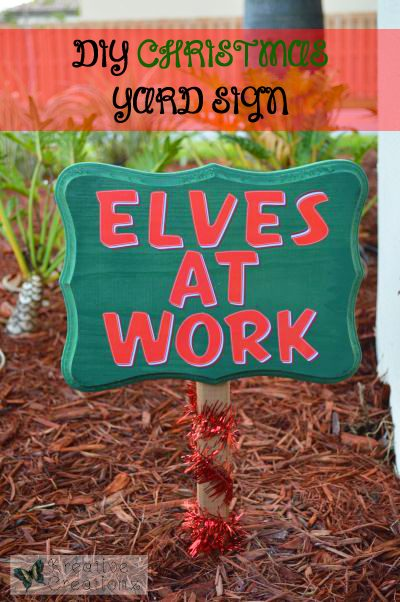 DIY Christmas Yard Sign | 26 Inspiring and Easy Christmas DIYs | This Crazy Adventure Called Life