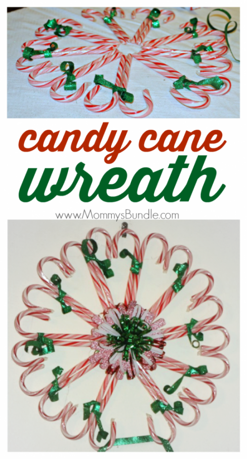 Candy Cane Wreath | 26 Inspiring and Easy Christmas DIYs | This Crazy Adventure Called Life