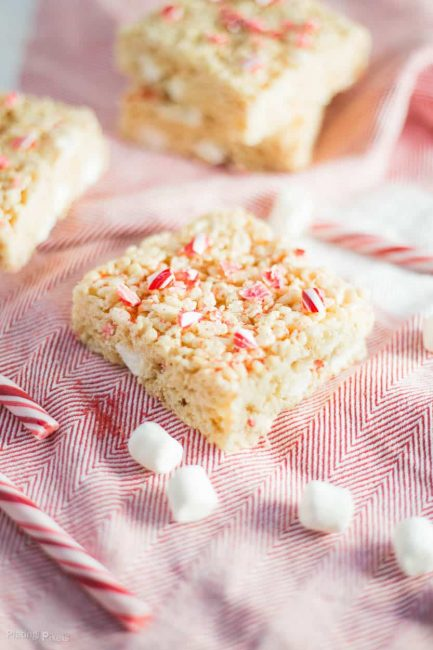 Brown Butter Peppermint Rice Krispie Treats | Peppermint Desserts To Bring Holiday Cheer | This Crazy Adventure Called Life