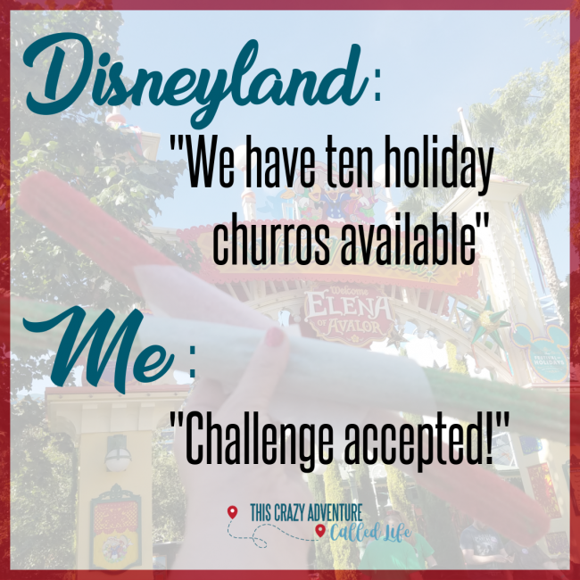 Disneyland Holiday Churro Challenge