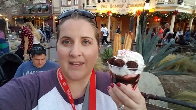 Churro Sundae at Disneyland resort