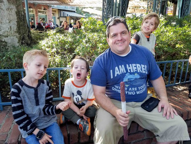 Disneyland holiday churros with kids