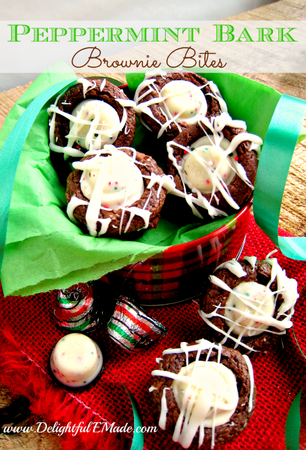 Peppermint Bark Brownie Bites | Peppermint Desserts To Bring Holiday Cheer | This Crazy Adventure Called Life