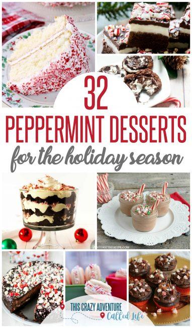 Peppermint dessert recipes for Christmas