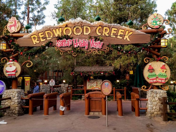 meet Santa at Redwood Creek Challenge Trail Disneyland during HOlidays