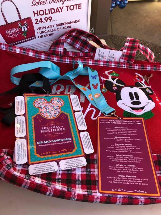 Sip and Savor pass Disneyland during the Holidays