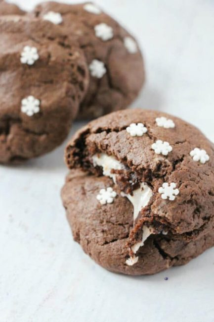 Peppermint Stuffed Chocolate Cookies | Peppermint Desserts To Bring Holiday Cheer | This Crazy Adventure Called Life