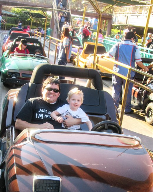 Autopia is a great Disneyland Ride for toddlers