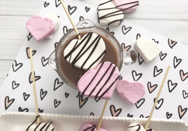 Heart Themed Hot Cocoa Marshmallow Stirrers Love Our Crazy