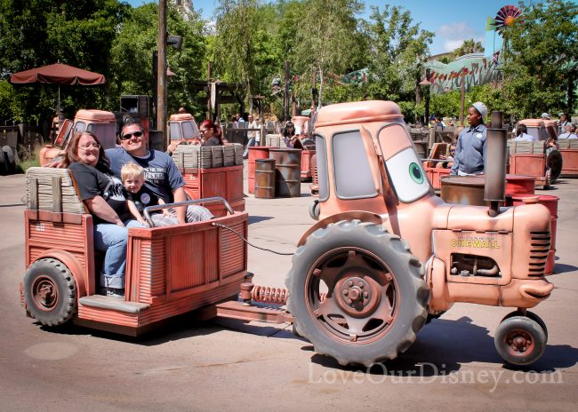 Disneyland rides for toddlers maters junkyard jamboree