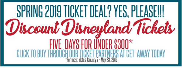 Spring Disneyland Ticket Deal