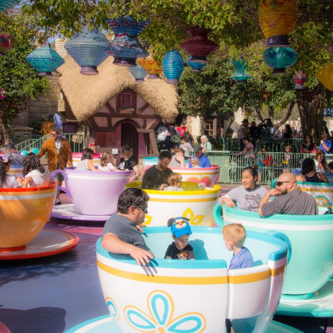 Teacups are a great Disneyland ride for toddlers
