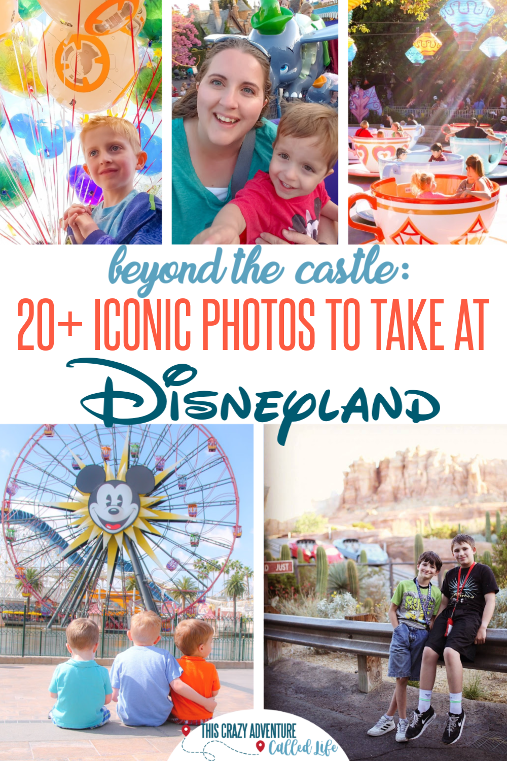 20+ Disneyland pictures that are at different locations then the castle. If you are heading to Disneyland and want non-castle photos (or the castle is under refurb) YOU NEED this list. Insider tips for where to get photos that scream