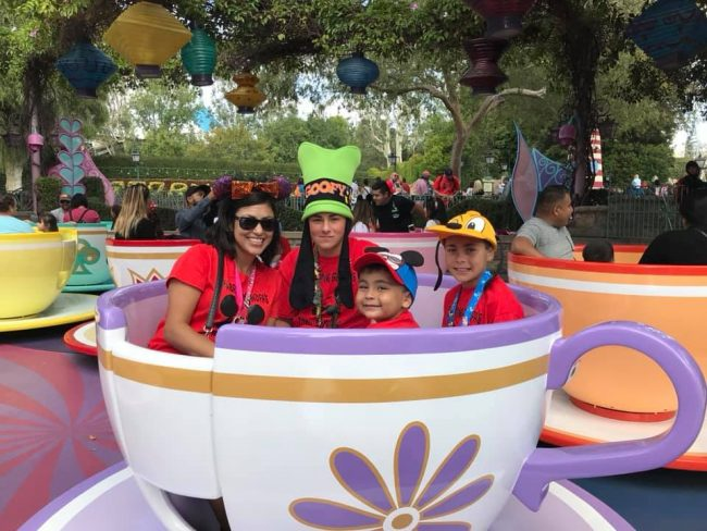 Family in Teacups at Disneyland photo