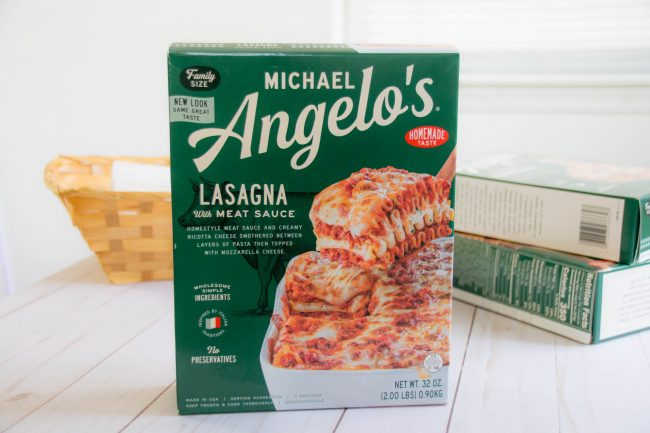 Michael Angelo's Lasagna with meat suace is a great dinner option