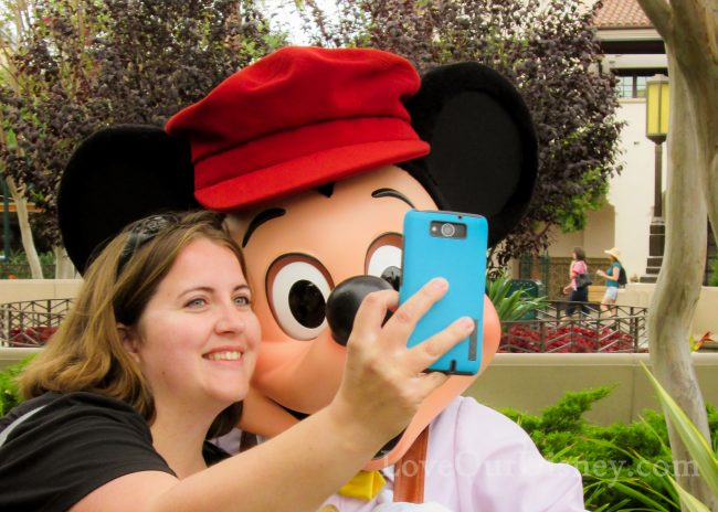 Disneyland photo selfie with Mickey