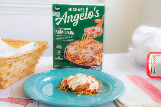 Michael Angelo's Chicken Parmigiana plated