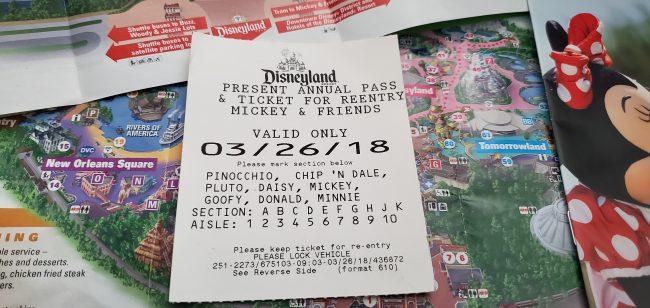 Disneyland Parking Receipt