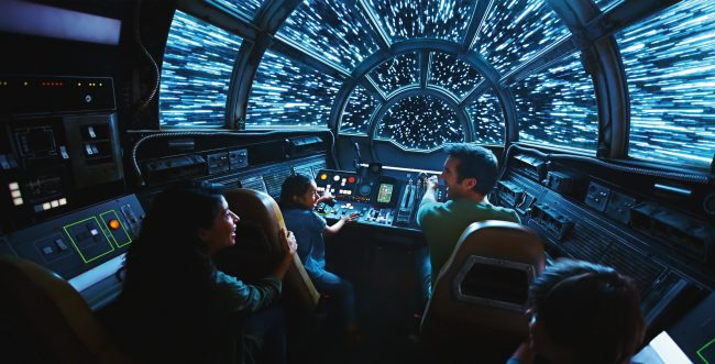 Star Wars Land Millennium Falcon Ride