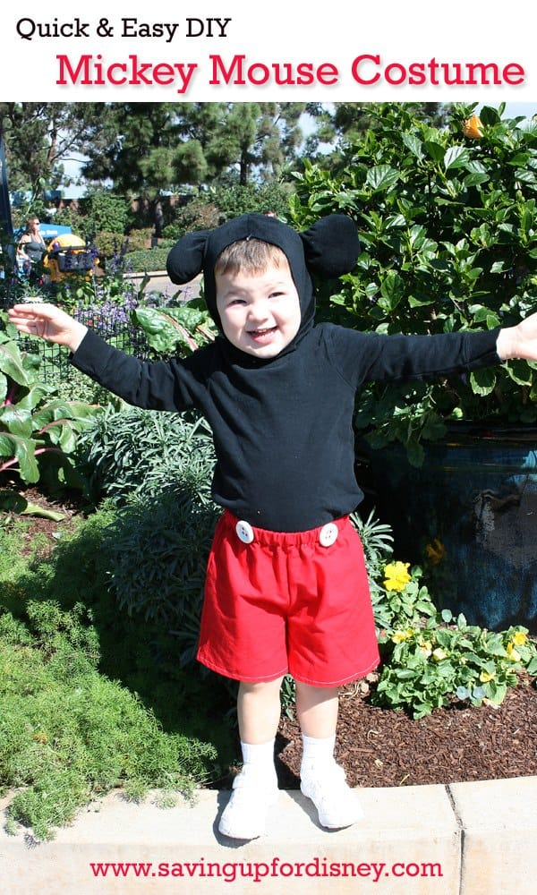 Halloween on a Budget – Quick and Easy Mickey Mouse Costume