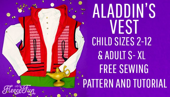 Best Aladdin Costume DIY (Free Vest Pattern)