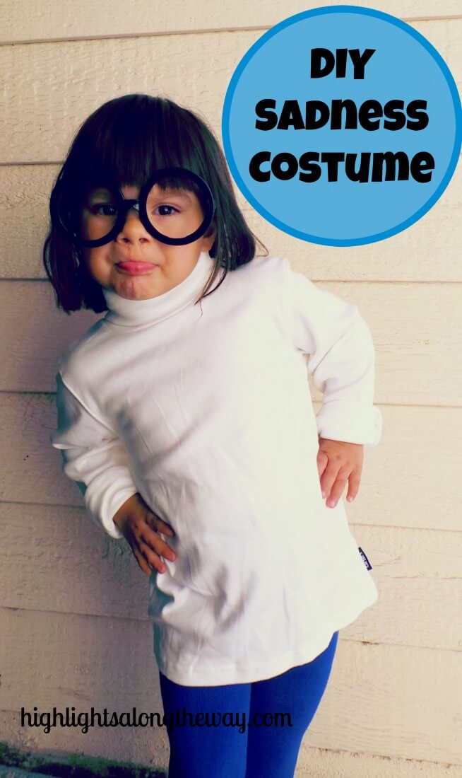 Sadness Costume, DIY Sadness costume from Inside Out