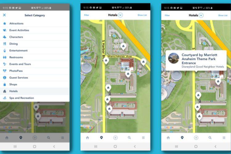 Disneyland App Tips and Secrets | This Crazy Adventure ... on fantasmic map, cars land map, the walt disney company map, good neighborhood hotel map, good neighbor hotels anaheim, good neighbor resorts, home map, walt disney world map,