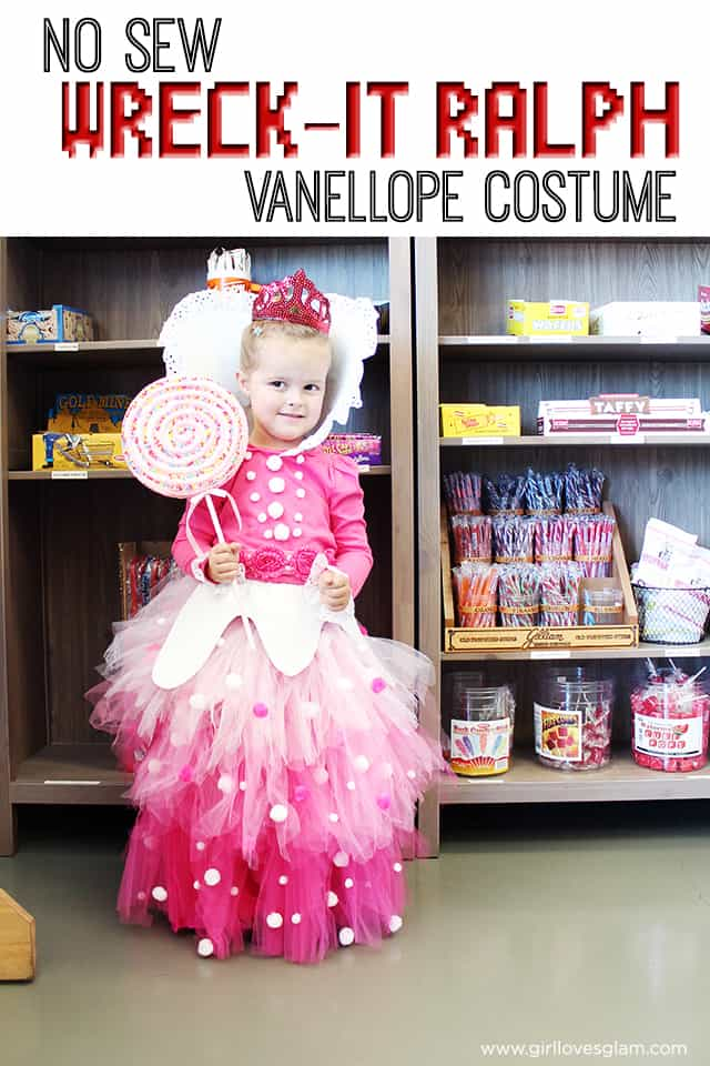 No Sew Vanellope Von Schweetz Costume from Wreck it Ralph