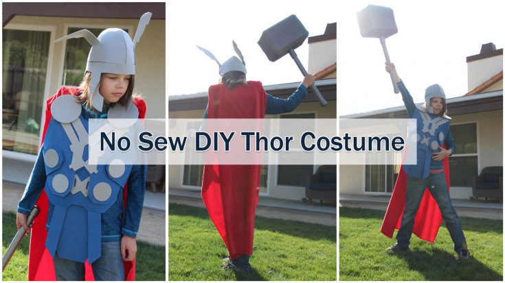 NO Sew DIY Thor Costume that you can make right now!
