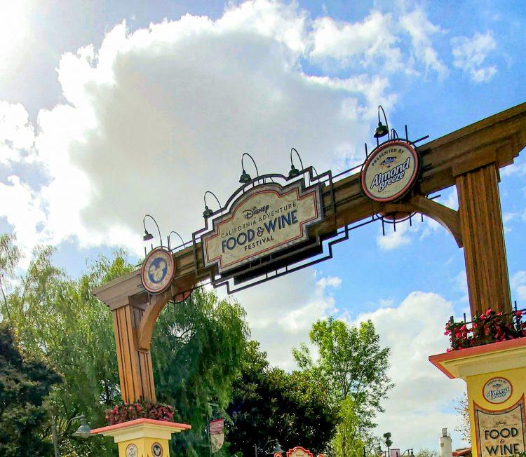 Disney California Food and Wine Festival sign