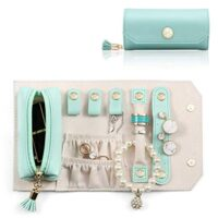 Small Travel Jewelry Roll Bag Organizer