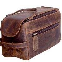 Genuine Buffalo Leather Toiletry Bag