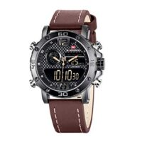 Mens Waterproof Leather Watch