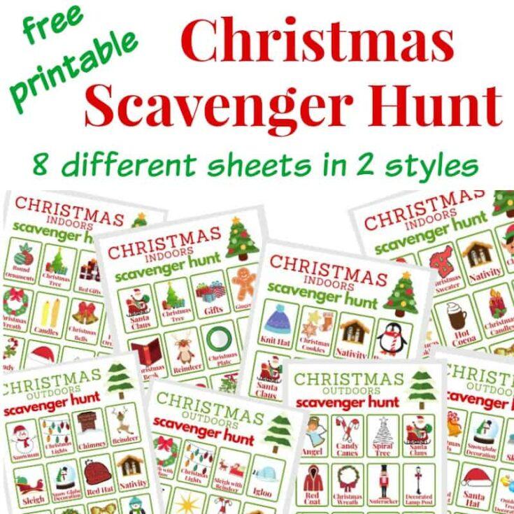 Indoor and Outdoor Christmas Scavenger Hunt