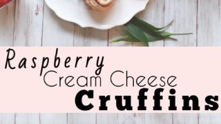 Raspberry Cream Cheese Cruffins