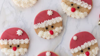 Easy & Delicious Santa Sugar Cookies