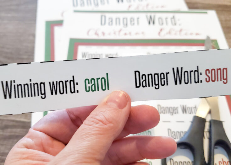 Danger Word: Christmas Edition - Free Printable