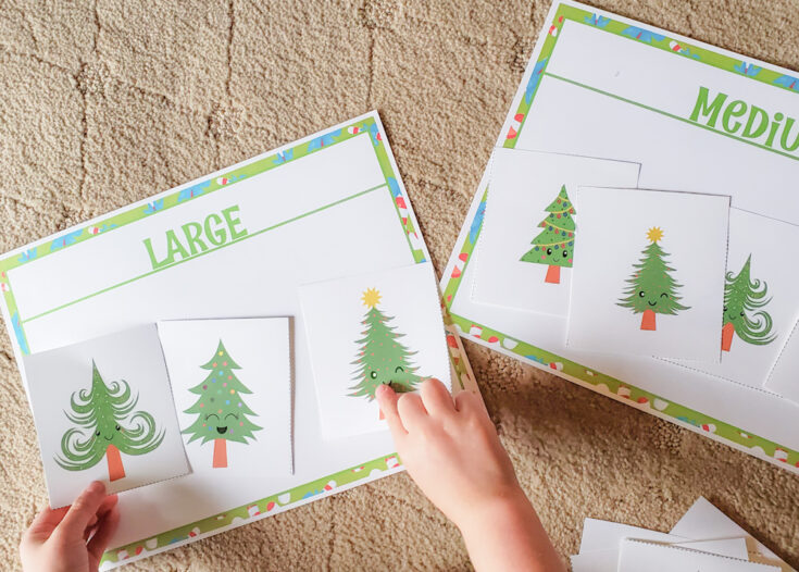 Christmas Tree Sorting Activity Printable