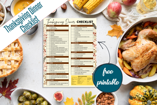 Free Printable Thanksgiving Dinner Checklist