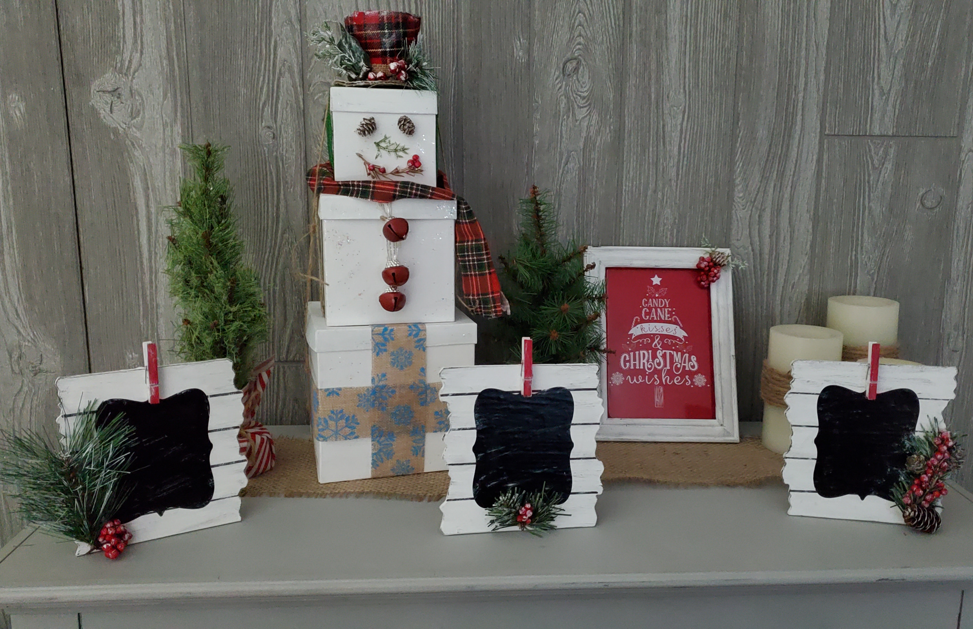 Easy Farmhouse Style Dollar Store Christmas Crafts Love Our Crazy Life